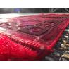 Tapis de Prière Velours Luxe couleur unie - motifs incrustés - COULEUR ROUGE CORAIL