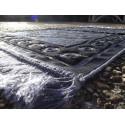 Tapis de Prière Velours Luxe couleur nuancée - motifs incrustés - COULEUR VIOLET ARDOISE