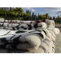 Tapis de Prière en Velours - Motifs jardin - Fond Sable - COULEUR VIOLET CLAIRE