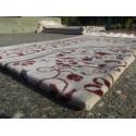 Tapis de Prière en Velours - Motifs jardin - Fond Sable - COULEUR SAUMON