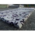 Tapis de Prière en Velours - Motifs jardin - Fond Sable - COULEUR VIOLET SOMBRE