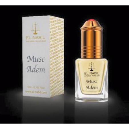 El Nabil Musc Adem– Parfum concentré sans alcool pour homme- Flacon roll-on de5 ml