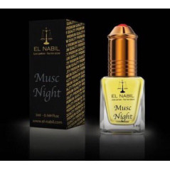 El Nabil Musc Night– Parfum concentré sans alcool pour homme- Flacon roll-on de 5 ml