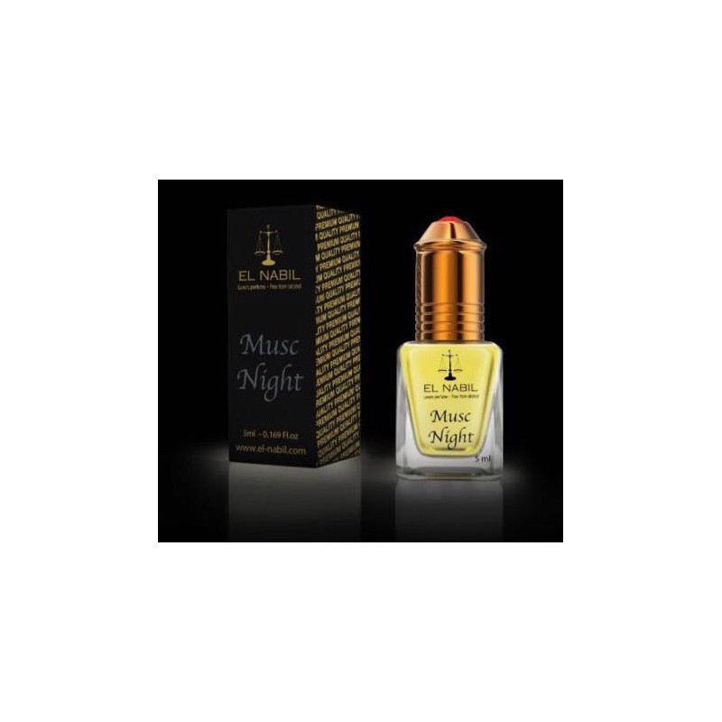 El Nabil Musc Night– Parfum concentré sans alcool mixte- Flacon roll-on de 5 ml