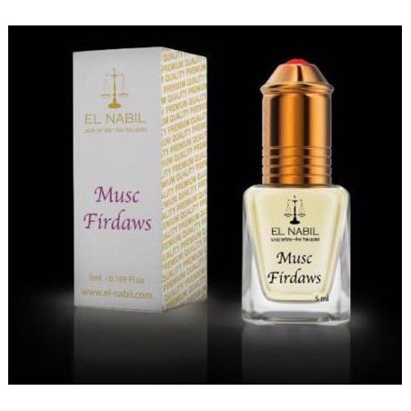 El Nabil Musc Firdaws– Parfum concentré sans alcool pour femme- Flacon roll-on de 5 ml
