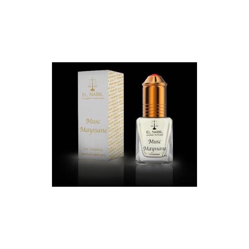 El Nabil Musc Mayssane– Parfum concentré sans alcool pour femme- Flacon roll-on de5 ml