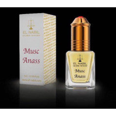 El Nabil Musc Anass– Parfum concentré sans alcool pour homme- Flacon roll-on de 5 ml