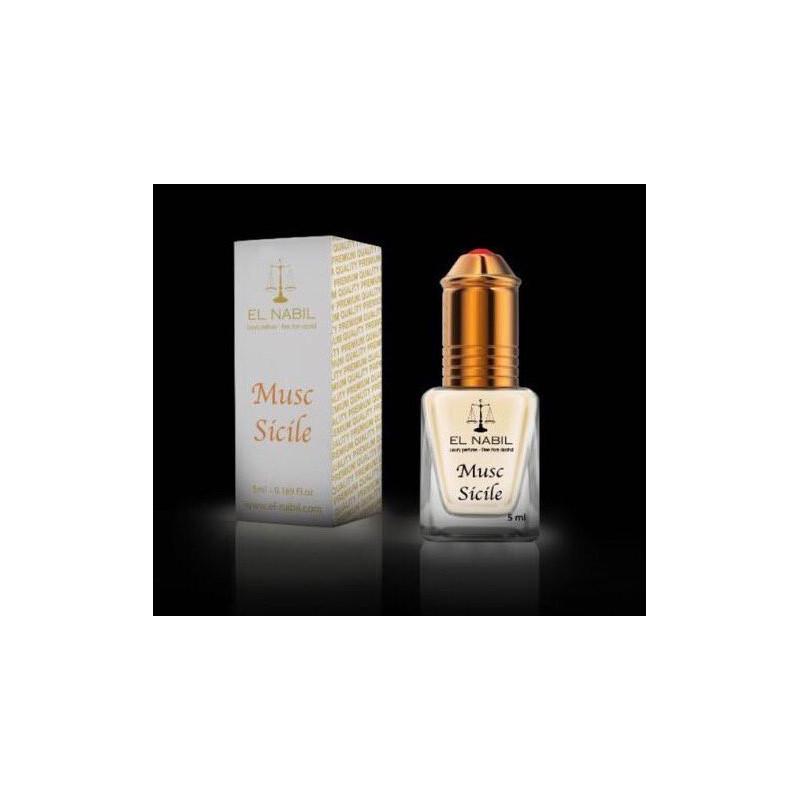 El Nabil Musc Sicile– Parfum concentré sans alcool pour femme- Flacon roll-on de5 ml