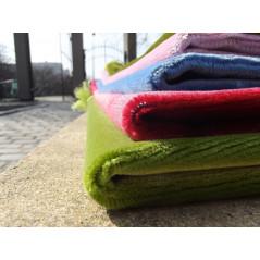 Tapis de Prière Velours Luxe couleur unie pastel  - BLEU PASTEL