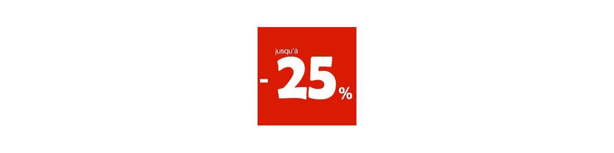 Soldes -25%