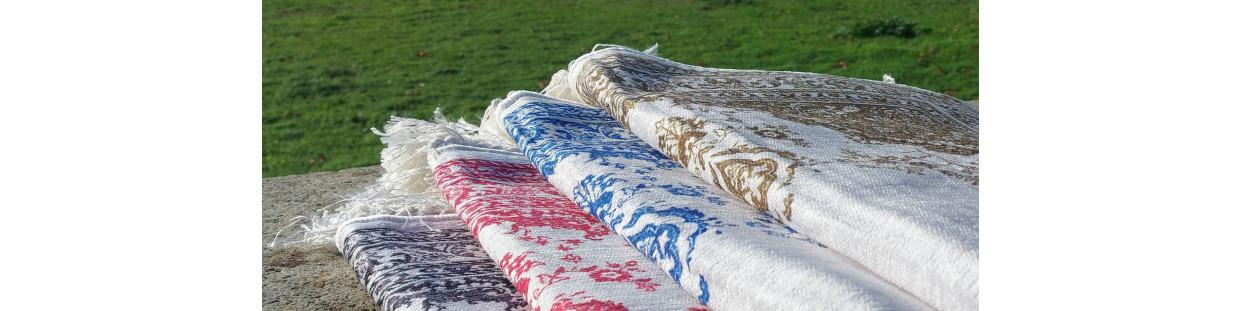 Tapis de Prière FIN - motif arabesque floral - COTAN POLYESTER