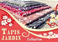 Tapis de Prière en Velours - fond coloré - motifs jardin